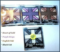 New Lot 4 Rimmel Glam Eyes Hd Quad Eye Shadow Palette Free Ship + Free Gift - $13.95