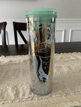 Starbucks Valentines 16 Oz Siren Mermaid Cup Clear / Mint Tumbler - $24.99