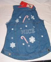 Dog Pet Ugly Vest NWT Wondershop XL Christmas Clothes Jacket Denim - $13.37