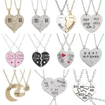 2 or 3 Best Friend Necklace Sets For Women Friendship Stitching Letters ... - $9.90