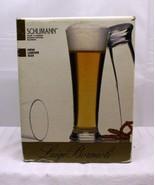 Luigi Bormioli ~ Schuman (4) 15 oz blown crystal pilsners ~ pm426k ~ Italy - $13.66