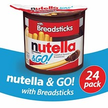 Nutella and Go Snack Packs, Chocolate Hazelnut Spread with Breadsticks, 1.8 Ounc