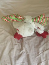 Ganz Webkinz Holiday Christmas Minty Moose Stuffed Plush Bean Bag Animal No Code - $15.00