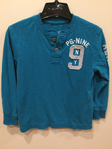Aeropostale PS Henley Shirt Blue Teal PS Aero Size Small (8) - $4.17