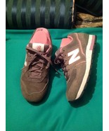 NEW BALANCE  W594GPS WOMEN'S SUEDE GRAY/ PINK RUNNING SHOES SNEAKERS SZ ... - $25.24