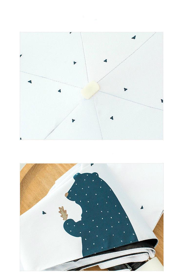 Compact Mini Umbrella Pocket Folding Sunny Small Rainy Travel Anti UV Protect