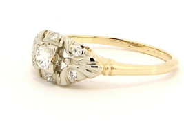Vintage 14k Yellow and White Gold Ring with .28 ctw Diamonds Size 7.75 - $439.00