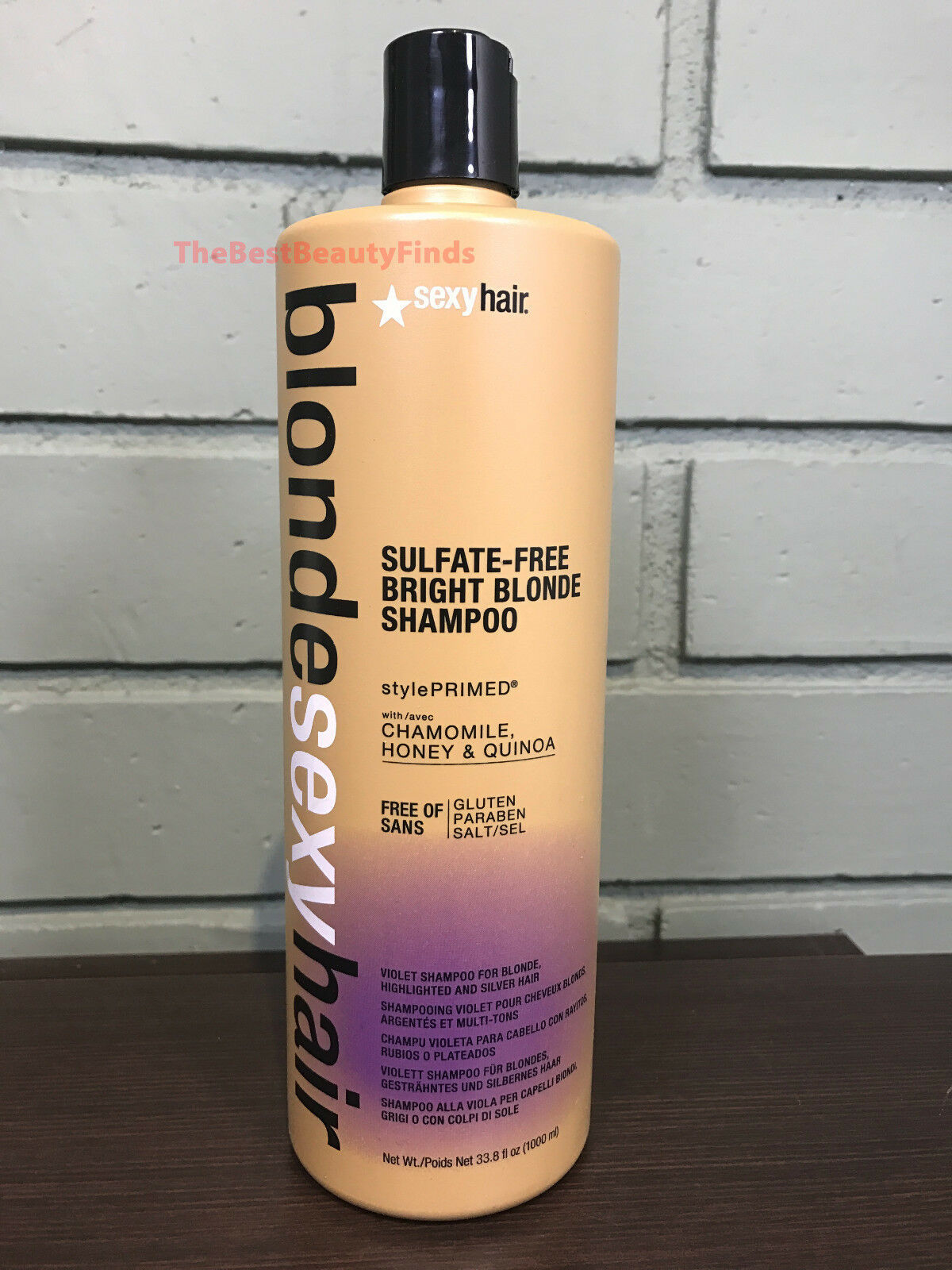 Blonde Sexy Hair Sulfate-Free Bright Blonde Shampoo 33.8oz LITER! Free Shipping!