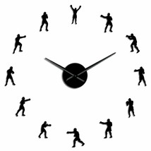 Boxing Fighting Game DIY Wall Clock Sport Themed Gym 3D Cool Decor Boxer... - $34.97+