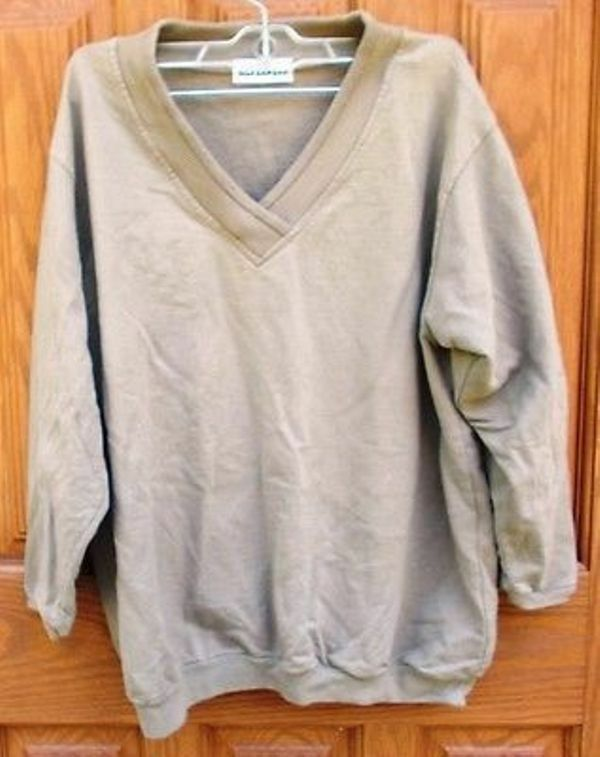 Primary image for ~~ Vintage Silverwear Tan Shirt ~~ V-Neck ~~ 3/4 Sleeve ~~