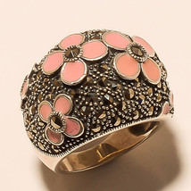 Ring 925 Sterling Silver Vintage  Marcasite Beautiful  India Jewelry MB2... - $236.55