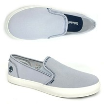 Timberland Women's Newport Bay Slip On Light Blue Canvas Shoes A1WU2 ALL... - $49.99
