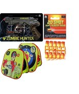 Cunninghams Zombie Toy Gun with Zombie Target and 20 Soft Rubber Ammo Bu... - $42.13