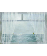 Morning View by Diane Romanello Seascape Window Curtains Beach Print 20x... - $197.01
