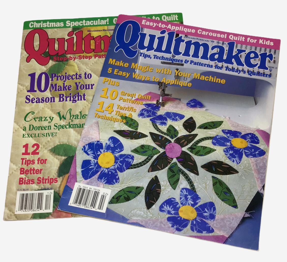 Quiltmaker Magazines Lot 2 Tips Techniques Patterns Quilts 1999 65 70 Machine - $16.82