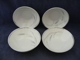 "Johann Haviland Bavaria Germany Silver Wheat 4 Fruit Bowls 4.75""  - $8.00"
