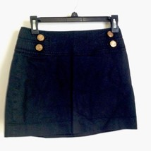 Express Black Military Style Short Skirt with Exposed Zipper 0 - $14.50