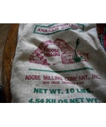 Gourmet Anasazi Bean Burlap Bag: NO Beans Included - $10.00
