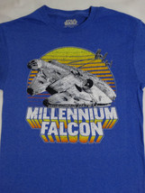 Star Wars Millennium Falcon Closeup Chased by Tie Fighter's T-Shirt - $10.00