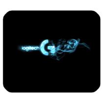 Mouse Pad Logitech Gaming Logo In Black Blue Elegant Design For Game Animation - $9.00