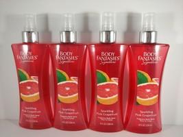 X4 Body Fantasies Signature Sparkling Pink Grapefruit 8 oz Fragrance Body Spray - $25.90