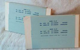 Vintage Office Collection. Hole Punch, Index Cards Typewriter Ribbon Tin. G-186 image 9