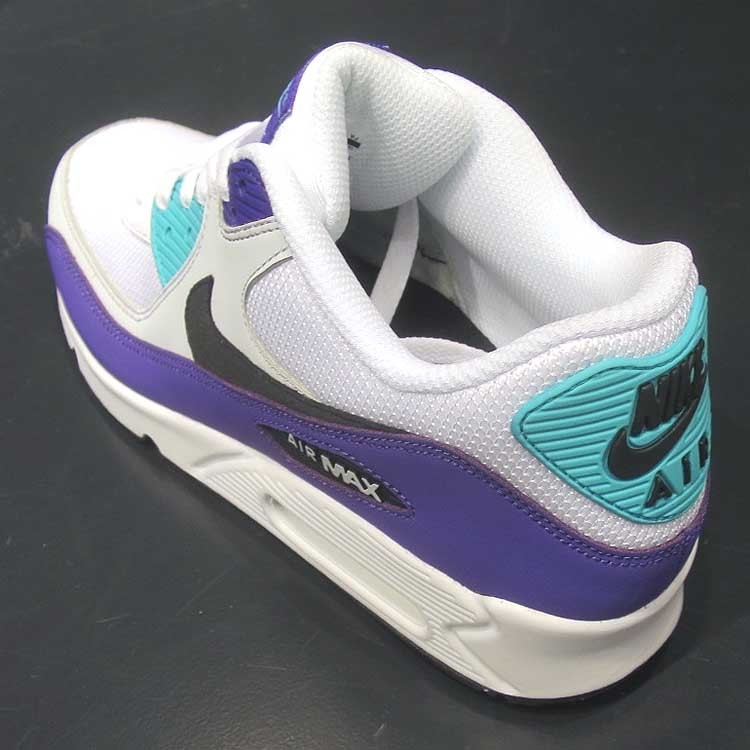 quality design 103c0 05b59 Nike Air Max 90 Essential White Black-Jade-Purple AJ1285-103