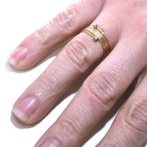 18K ROSE GOLD MAGICWIRE RING, MULTI WIRES ELASTIC WORKED, contrarié, DIAMOND image 3