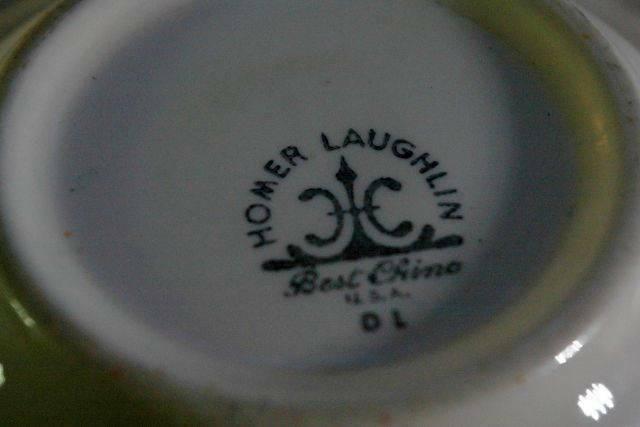 "Homer Laughlin Pink/Red Floral & Scroll Pattern Rimmed Cereal Bowl 6 1/4"" image 3"