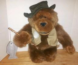 Fishing Brown Gorilla Ape Plush Dan Dee Collectors Choice Stuffed Animal - $18.00