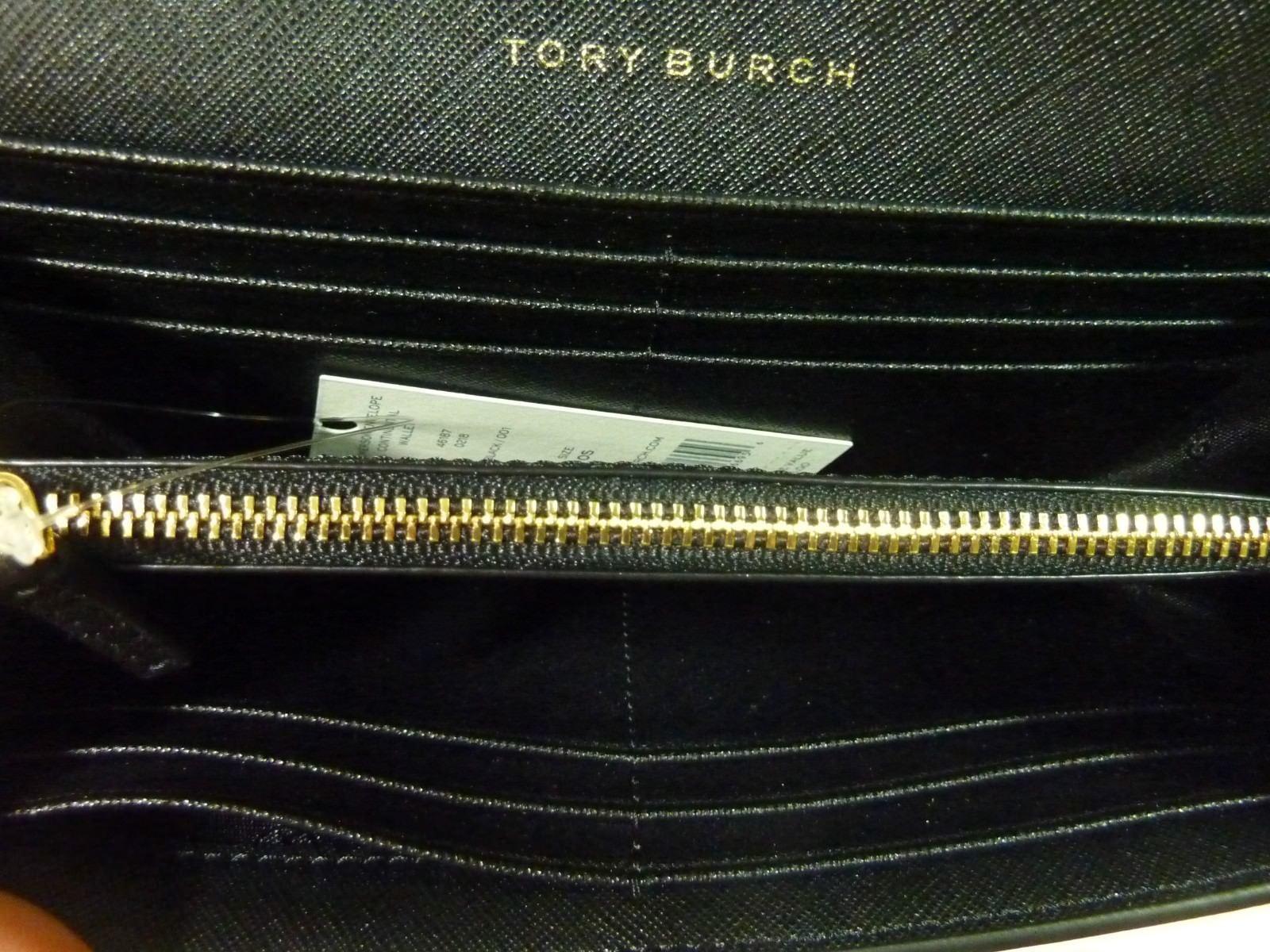 NWT Tory Burch Classic Black Saffiano Robinson Middy Satchel + Wallet $800 image 12