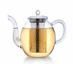 Creano Glas-Teekanne 1,5l, 3-teiliger Teebereiter mit integriertem Edels... - $49.12