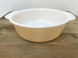Vintage Fire King Casserole Dish Peach Lustre 1.5 Qt Made In The USA - $16.88