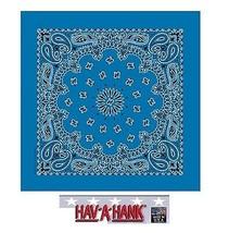 USA MADE Hav-A-Hank MIRAGE BLUE PAISLEY Bandana Face Mask Neck SCARF Sca... - $10.37