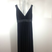 David's Bridal Black V Neck Long Formal Dress Size S M - $18.49