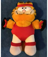 "Vintage Dakin Garfield Aerobicize 9"" Stuffed Plush Exercise Cat Aerobics... - $15.80"