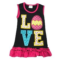 Cute Kids Clothing Toddler Girl/Girls Green Love Easter Egg Outfit Ruffl... - $18.04