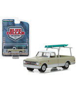 1970 Chevrolet C-10 Pickup Truck Cream with Ladder Rack Blue Collar Coll... - $13.08