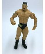 WWE Batista Jakks Pacific Wrestling Action Figure 2003 Black Gold Flame ... - $8.99