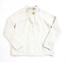 Ann Taylor Loft Knit Cashmere Wool Rabbit Cape Sweater Cardigan Ivory Si... - $29.69