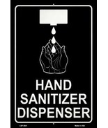 Hand Sanitizer Dispenser Novelty Metal Large Parking Sign - $24.95