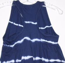 Gap Kids NWT Girl's Navy Blue Tie Dye Racer Back Maxi Dress Hi Lo Hem image 5