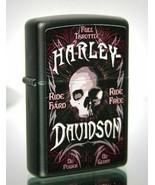 Sharp Retired 2015 Harley Davidson Ride Hard Ride Free Zippo Lighter - $33.20