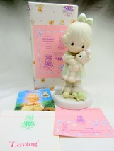 Precious Moments Figurine Loving Members Only PM932 Girl & Teddy Bear - $17.10