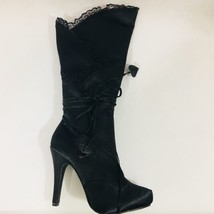 "Amputee or Replacement Ellie Gothika 4"" Satin Knee High Boot Right Only ... - $35.00"