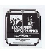 ORIGINAL Vintage 1976 Beach Boys Pittsburgh Three Rivers Stadium Handbill - $69.29