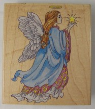 "Celestial Angel with Star Rubber Stamp by Stamps Happen 4"" x 2.5"" 80020 - $5.94"