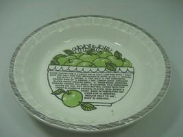 Vintage Ceramic Porcelain Apple Pie Plate Recipe Dish Royal China USA - €12,96 EUR
