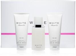 Kenneth Cole White Perfume 3.4 Oz Eau De Parfum Spray 3 Pcs Gift Set   image 2