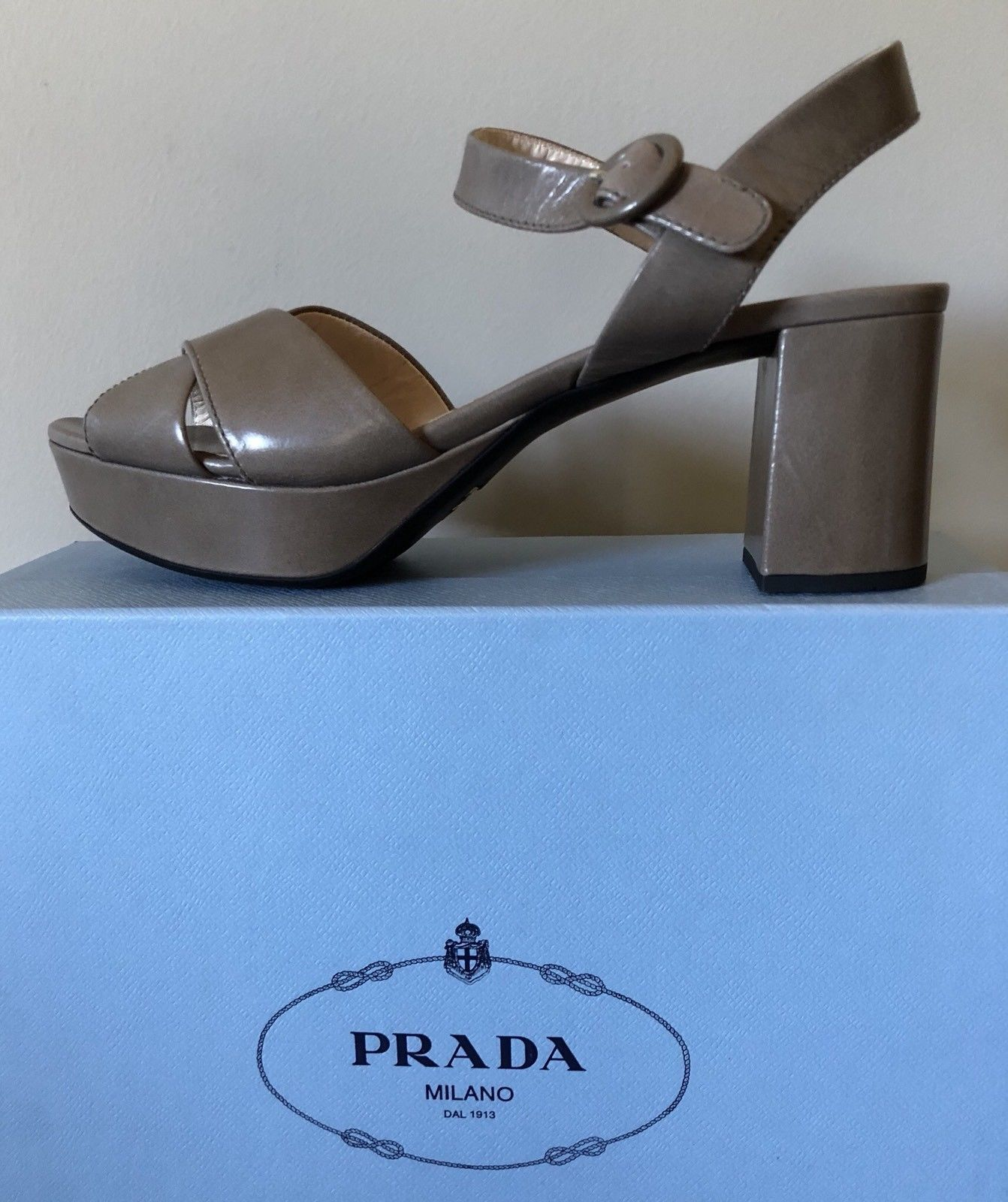 4629165bc NWT PRADA 40.5 US 10 10.5 Crisscross Leather and 50 similar items